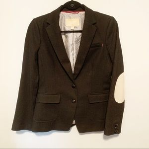 Banana Republic Hacking Jacket Black Elbow Patches
